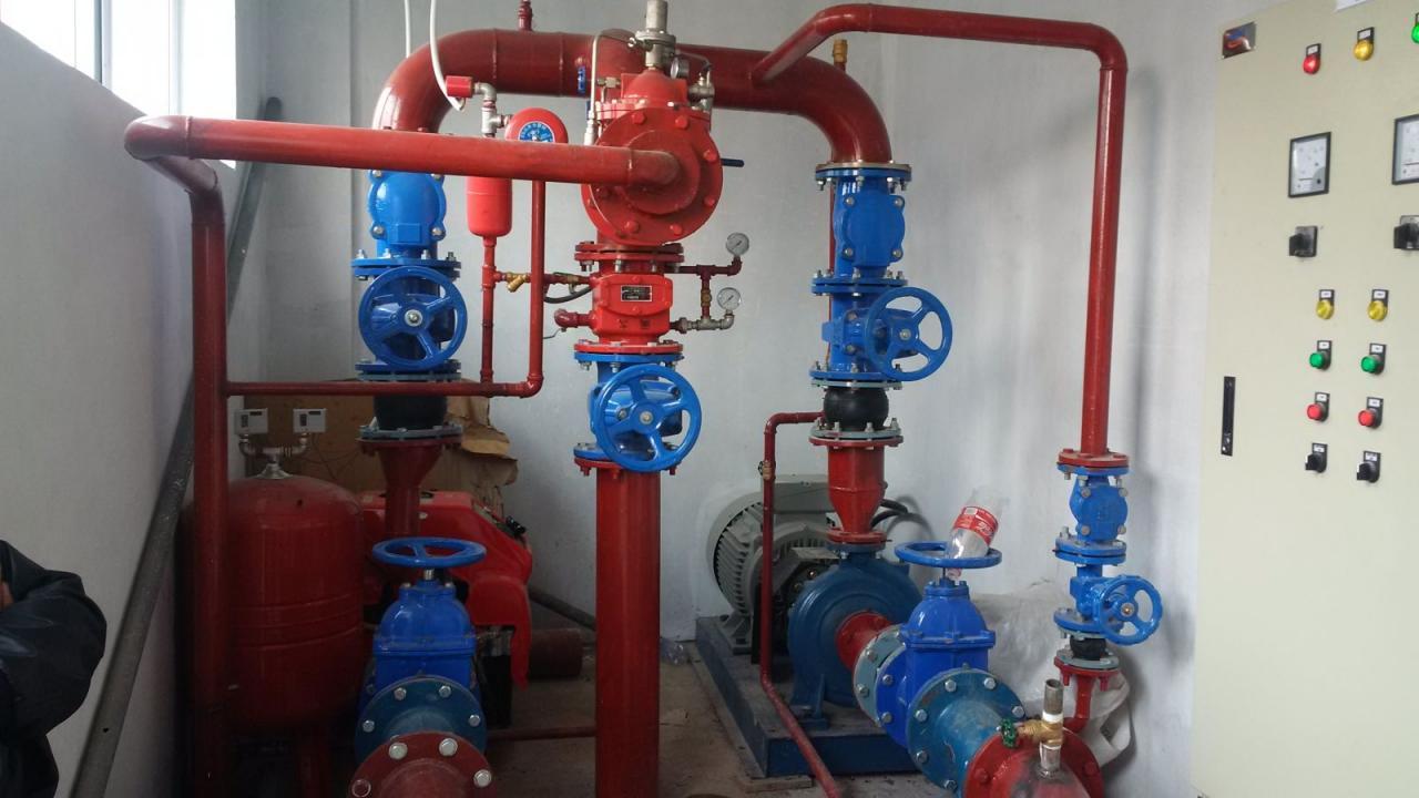 Đường ống máy bơm chữa cháy