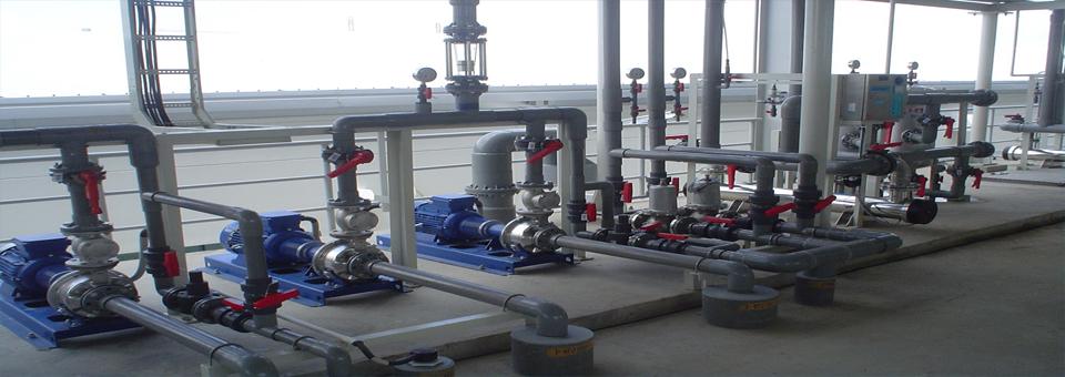 hệ thống đường ống dẫn nước máy bơm